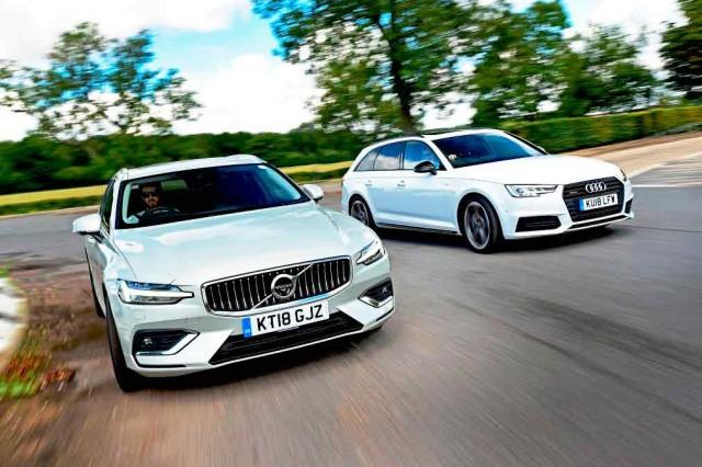Volvo V60 vs Audi A4 B9