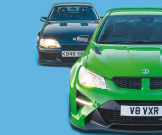 Back to the future Vauxhall Lotus Carlton vs. VXR8 GTS-R