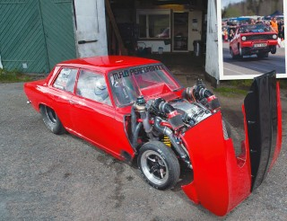 Opel Kadett B street-legal 1350bhp LSX drag