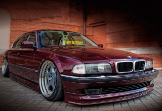Gorgeous air-ride BMW 740iA E38