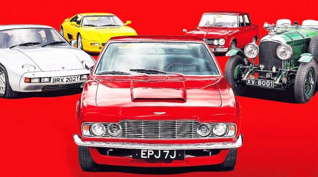 Porsche 928, Ferrari F355, Aston Martin DBS, Alfa Romeo Giulia Super Berlina and Bentley 4½ Litre Tourer