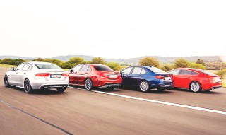 Group test 2015 Jaguar XE S against 2015  Mercedes-Benz C450 AMG W205, 2015 BMW 340i F30/2 and 2015 Audi S5 Sportback