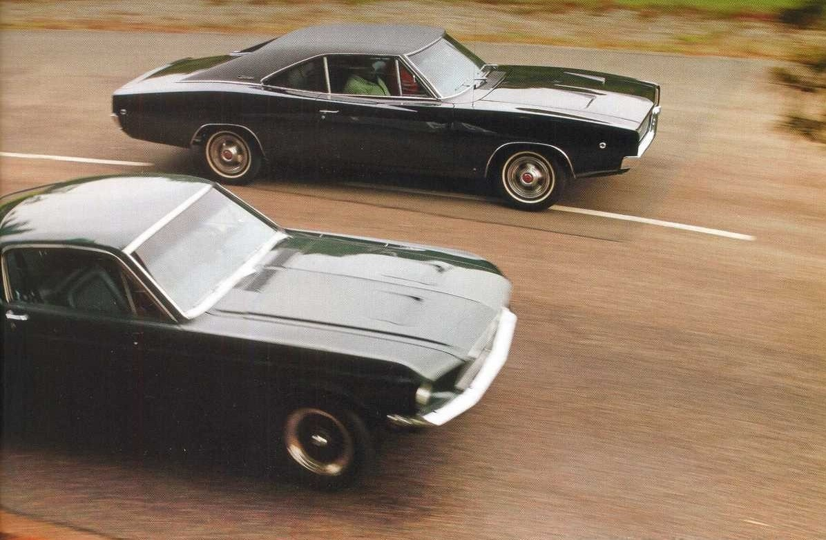 Ford Mustang 390 GT и Dodge Charger 440 R/T