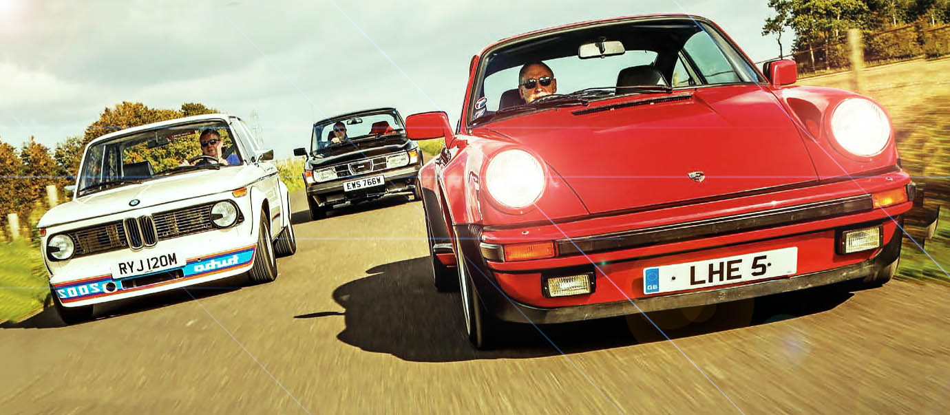 Giant test BMW 2002 Turbo vs. SAAB 99 Turbo and Porsche 911 Turbo 930