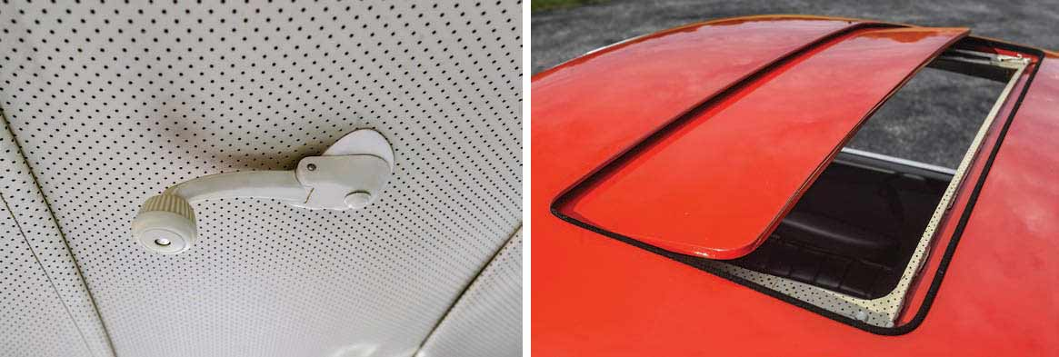 Porsche 901 prototype sunroof