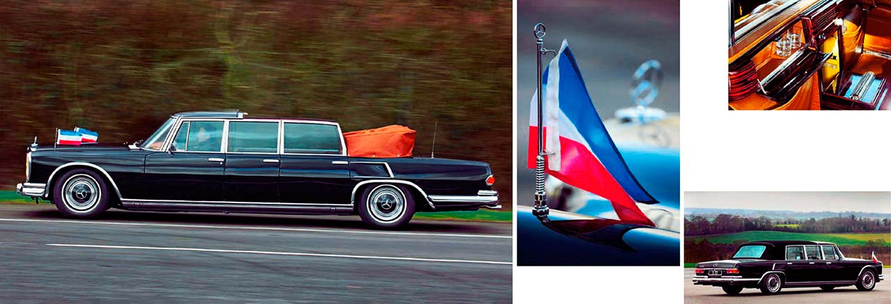 Driving Tito's presidential car 1970 six-door Mercedes-Benz 600 Pullman Landaulet W100.015