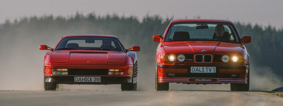 Ferrari Testarossa vs. BMW M5 E34 - 1990 giant road test - Drive