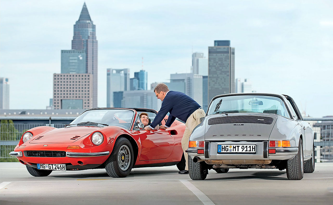giant test ferrari dino 246gt vs porsche 911s drive. Black Bedroom Furniture Sets. Home Design Ideas