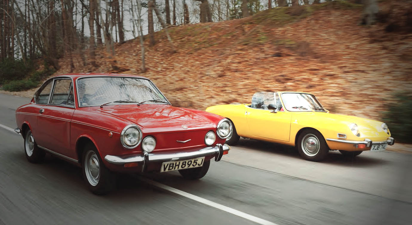 Сomparison Test Drive Fiat 850 Spider And Coupe Entry