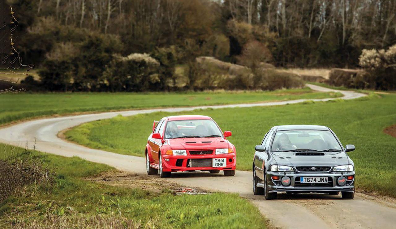 Road test Mitsubishi Lancer EVO VI TME vs. Subaru Impreza RB5 - Drive