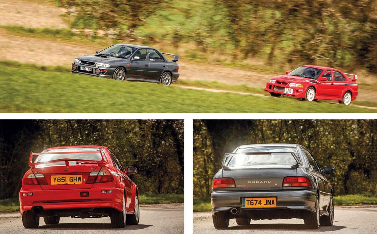 Road test Mitsubishi Lancer EVO VI TME vs  Subaru Impreza