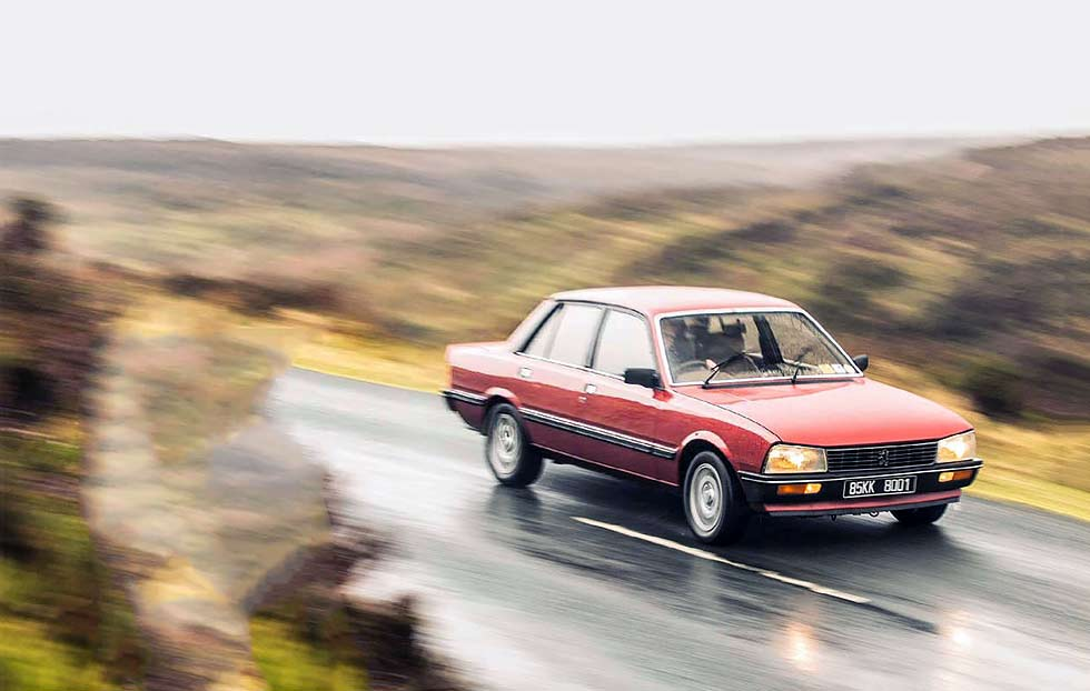 peugeot 505 gti automatic road test drive. Black Bedroom Furniture Sets. Home Design Ideas