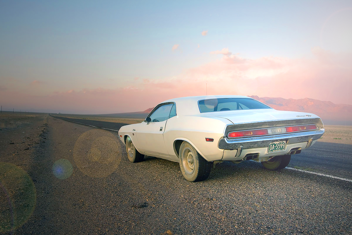 Barry Newman and Vanishing Point - Dodge Challenger R/T 440