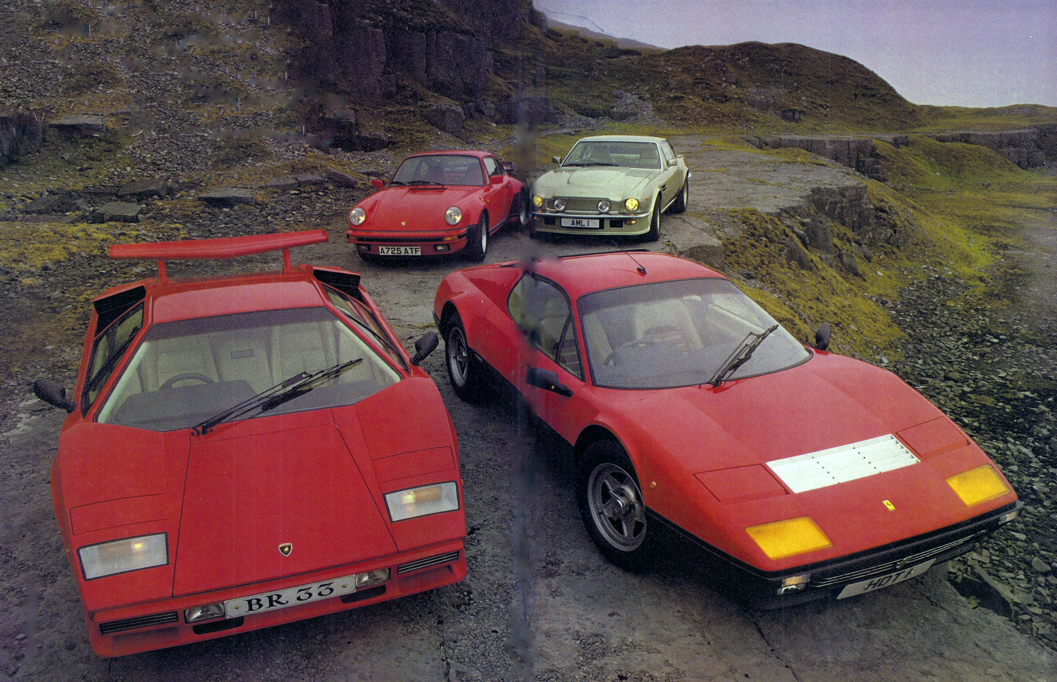 Ferrari-512BBi-Porsche-911-Turbo-Lambo-Countach-Aston-Vantage Breathtaking Lamborghini Countach Owners Manual Pdf Cars Trend