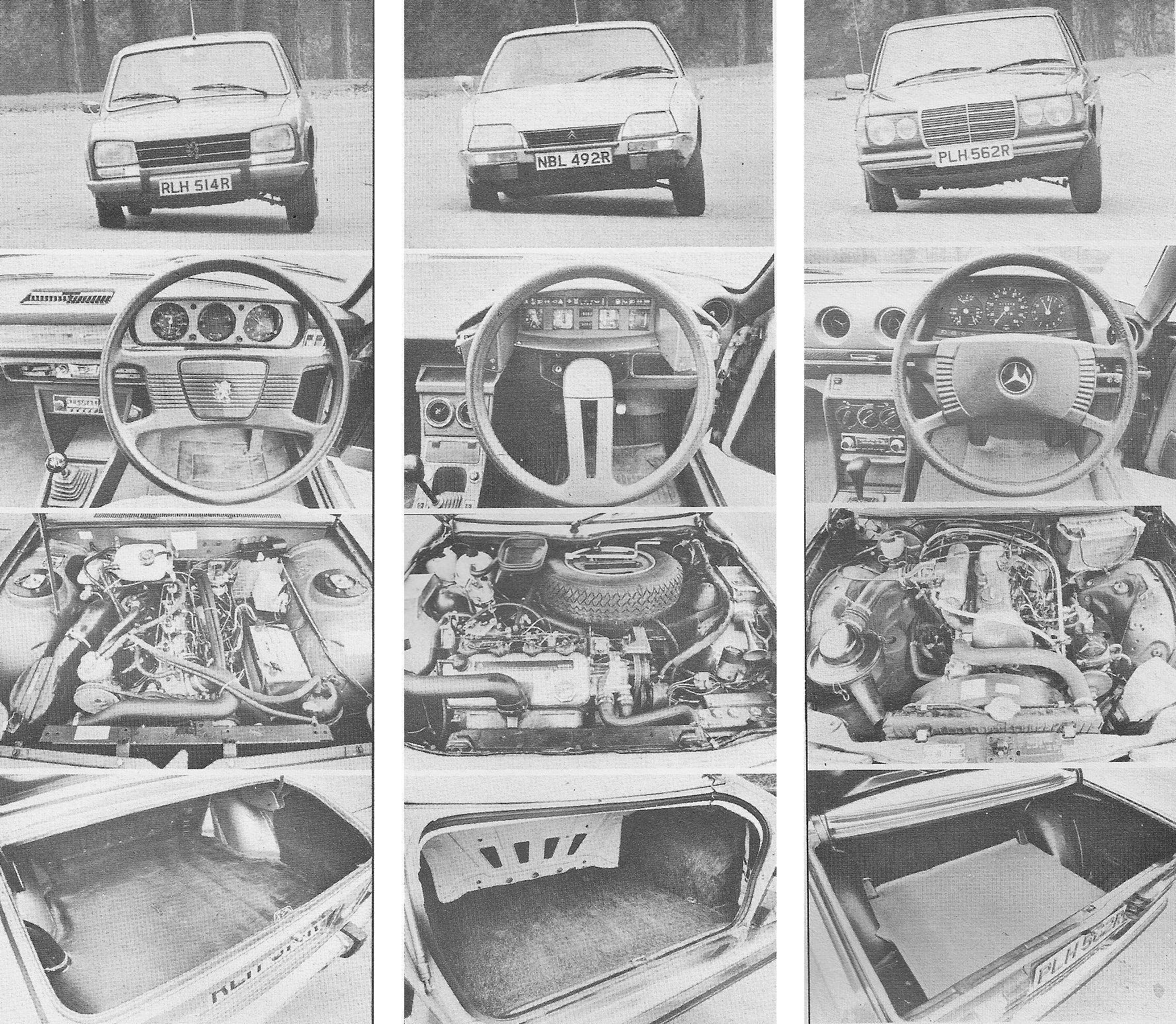 Giant Test Peugeot 504GLD Vs Citroen CX 2200D And Mercedes