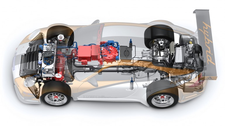 Porsche 911 GT3 R Hybrid 2.0 схема устройства