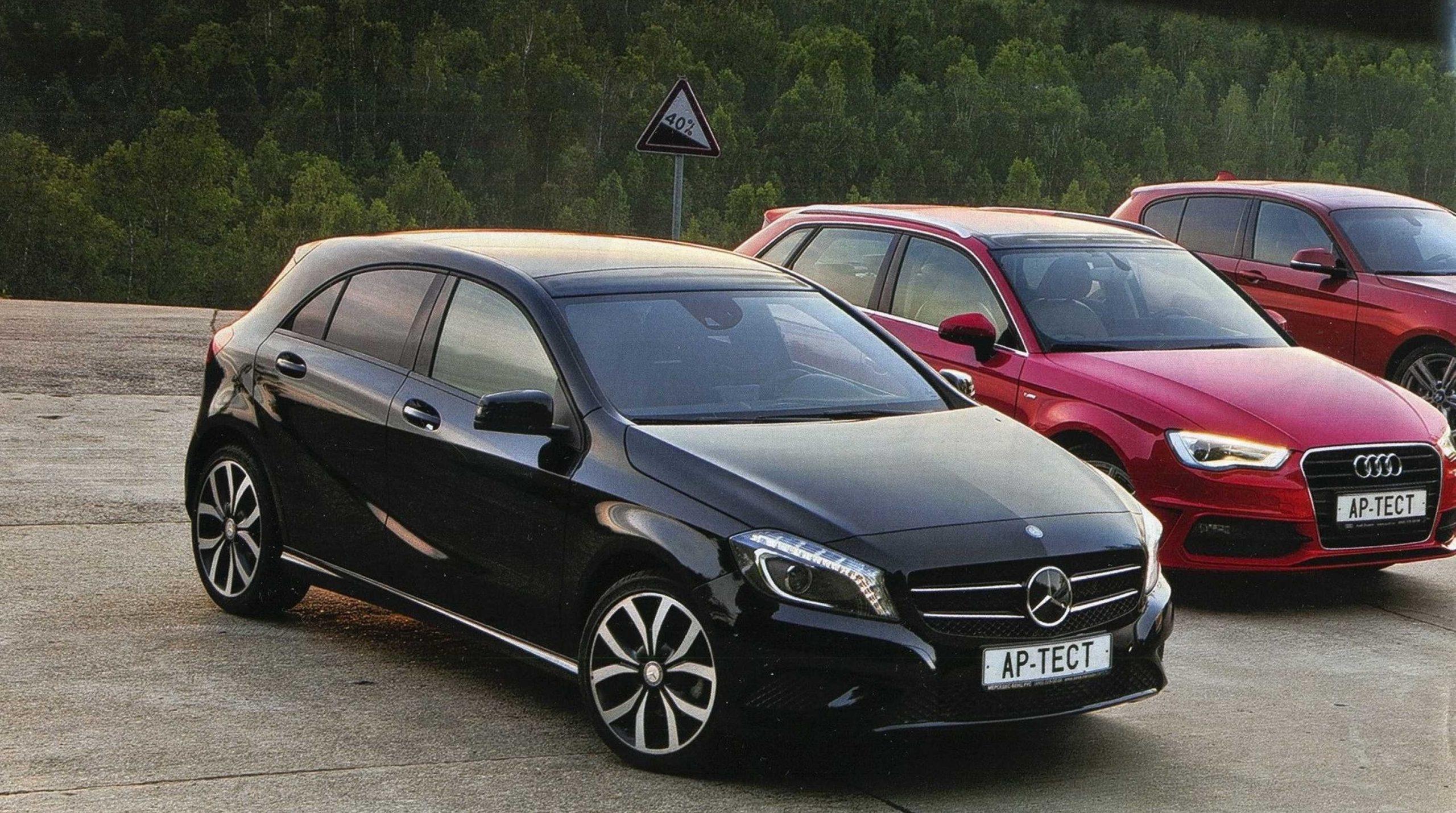 BMW 118i, Volvo V40 Cross Country T4 и Audi A3 Sportback 1.8 TFSI, Mercedes-Benz A 200