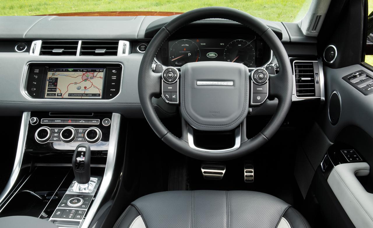 Range Rover Sport тест 2013 салон