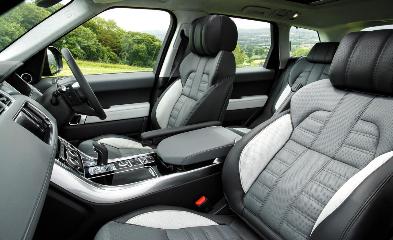 Range Rover Sport тест 2013 сиденья