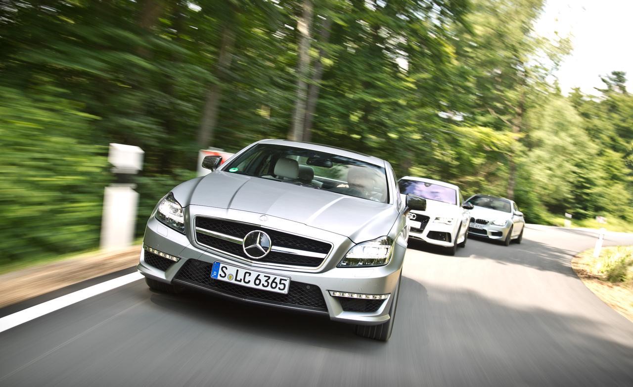 Сравнение Audi RS7, BMW M6 Gran Coupe и Mercedes CLS63 AMG S