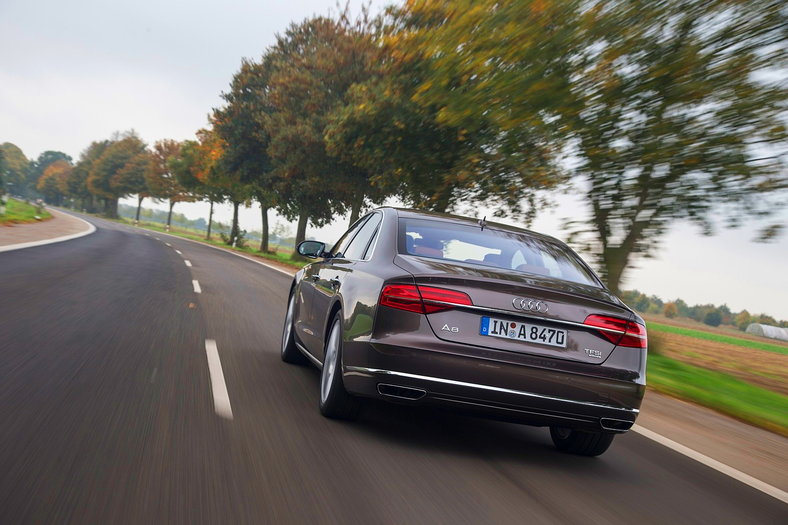 Тест новой Audi A8 2014