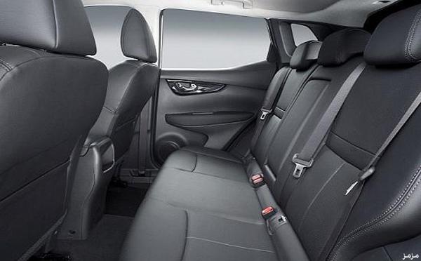 Nissan Qashqai второго поколения 2014 задние места