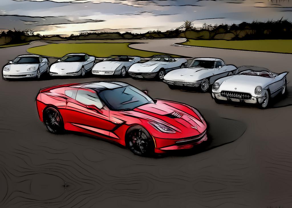 Все поколения Chevrolet Corvette