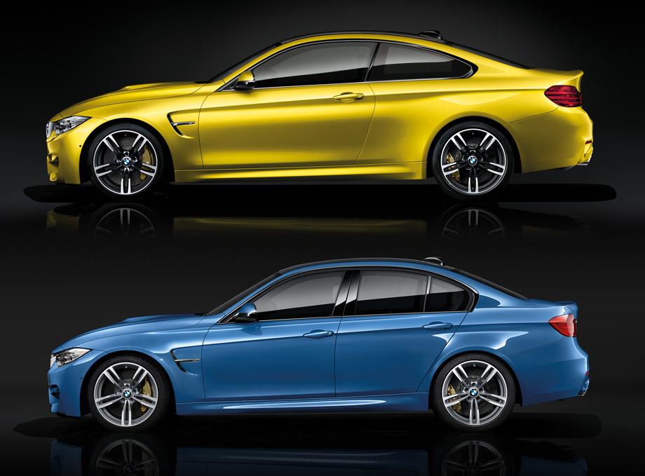 BMW M3 F30 и купе M4 F32