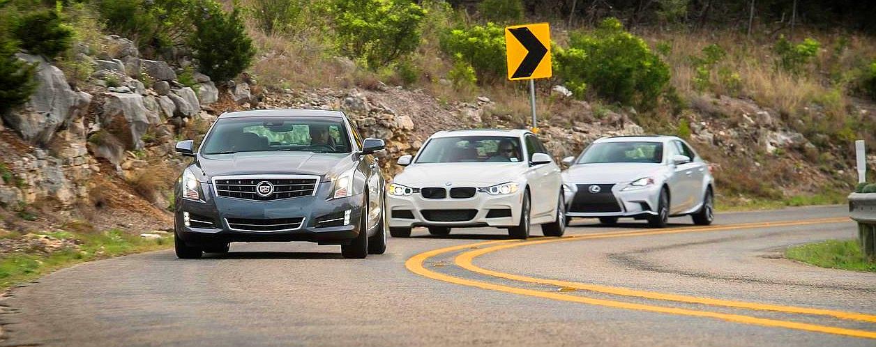 BMW 320i F30 против новых Cadillac ATS 2,5 L Ecotec 2013 и Lexus IS 250 2013