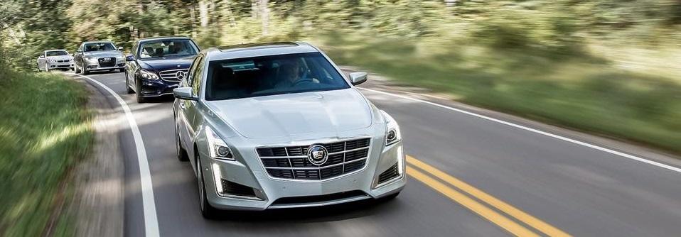 Cadillac CTS 3.6 против Audi A6 3.0T, BMW 535i xDdrive F10 и Mercedes-Benz E350 W212