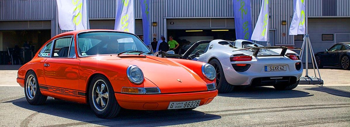 Porsche 918 Spyder и 911 1965 года