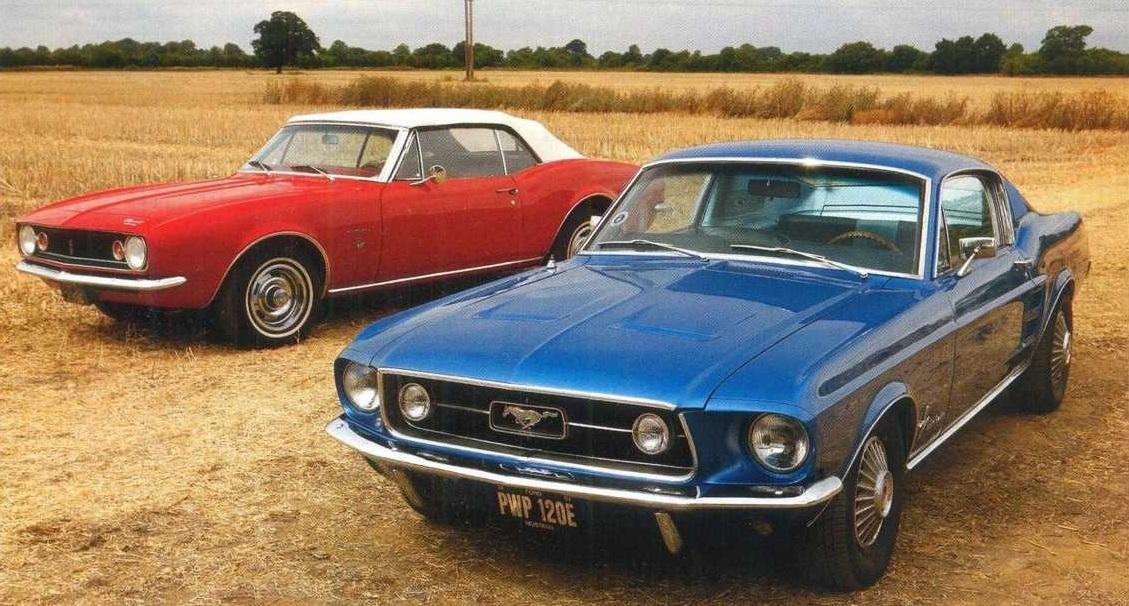 Chevrolet Camaro 1967 против Ford Mustang 1967