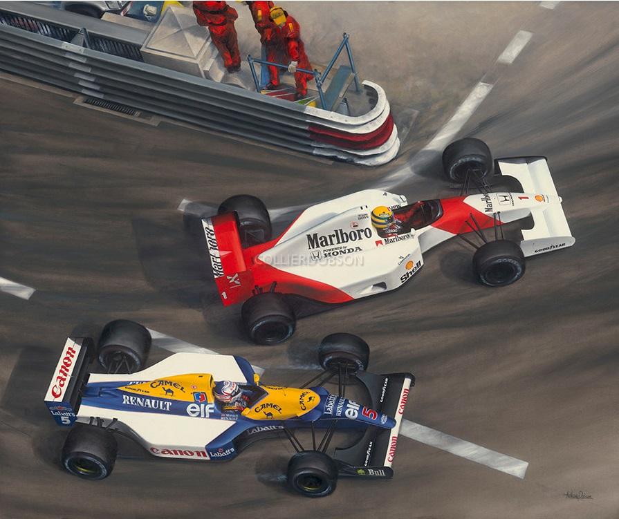 Дуэль Сенны и Мэнселла в Монако, 1992 год