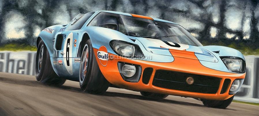 Энтони Добсон рисунок Ford GT40