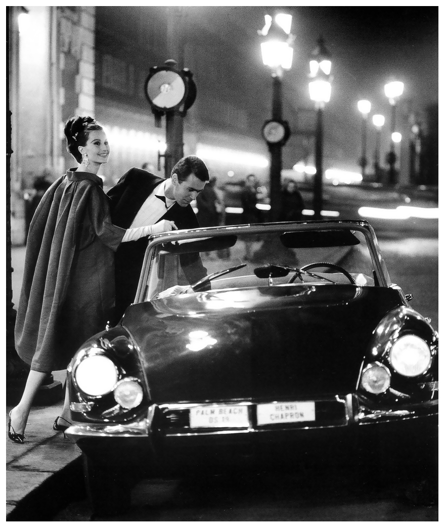 Беттина Лоер и ее Citroen DS Cabrio - 1963 год