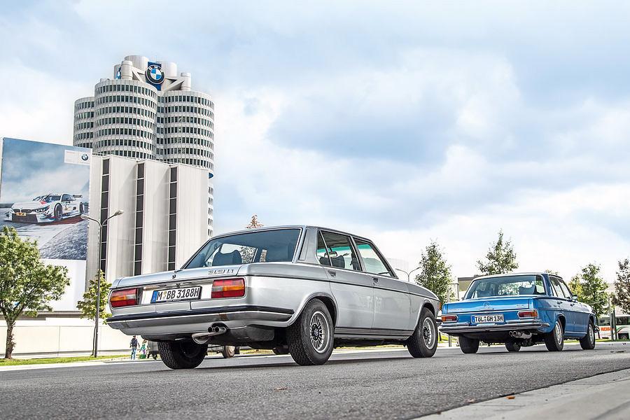 BMW 2800 E3 vs. Mercedes 280SE W108 drive-my test