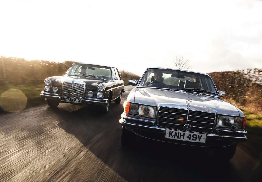 Road test drive - Mercedes-Benz 300SEL 6.3 W109 and its successor 450SEL 6.9 W116