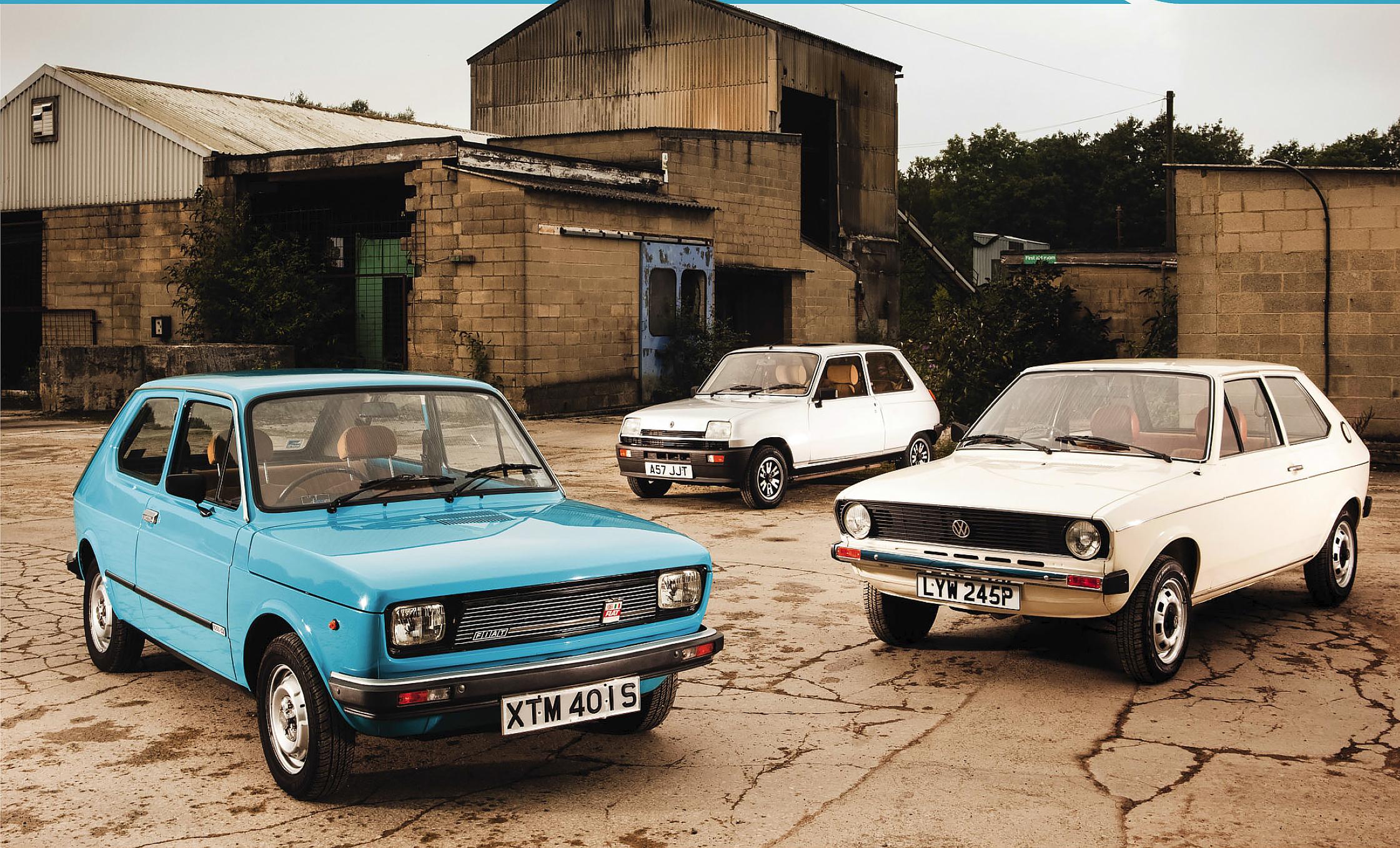 Renault 5 TX vs Fiat 127 TL and Volkswagen Polo L