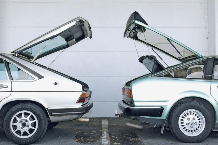 Audi 100 Avant 5E и Rover SD1 2600