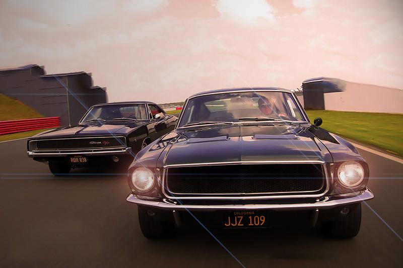 Bullitt and Steve McQueen's Ford Mustang 390 GT vs Dodge Charger 440R/T