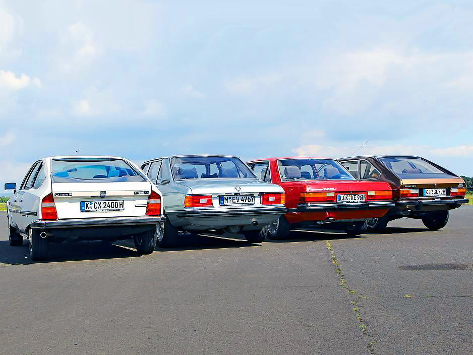 Тест - BMW 525 E12, Ford Granada 2.8 Mk2, Citroen CX 2400 и Renault 30 TX V6
