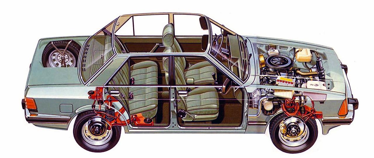 Ford Granada 2.8GL Mark II architecture