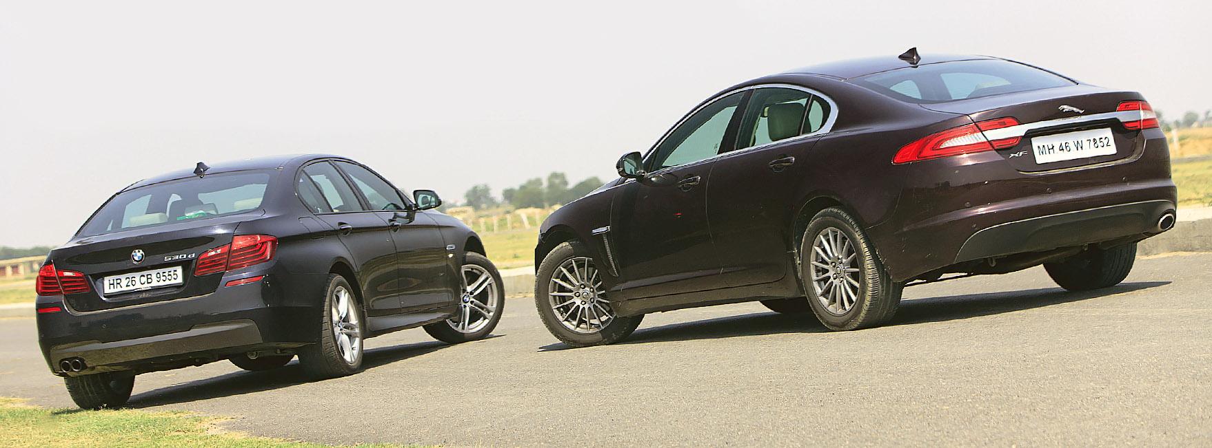 BMW 530d F10 2014 vs Jaguar XF 2.2 D 2014