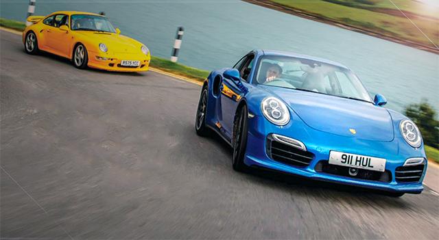 Porsche 911 Turbo 993 1998 vs 911 Turbo S 991 2014