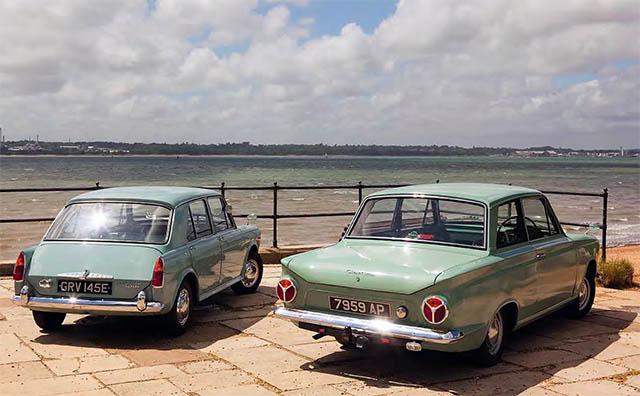 Morris 1100 De Luxe vs Ford Consul Cortina 1200