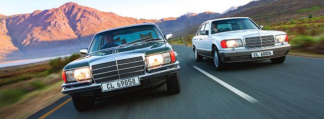 Mercedes-Benz S63 AMG W222-series S-Class vs Mercedes-Benz 450SEL 6.9 W116 and Mercedes-Benz 560SEL W126
