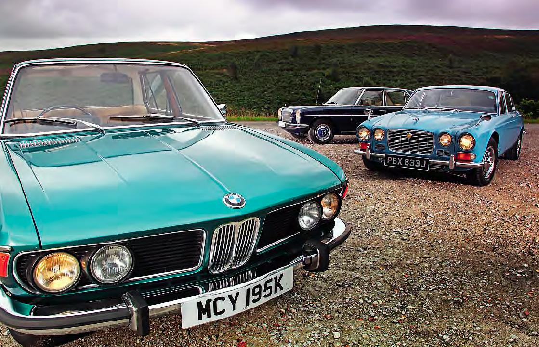 BMW 2500 E3 vs Mercedes-Benz 250 W114 and Jaguar XJ6 2.8 Deluxe