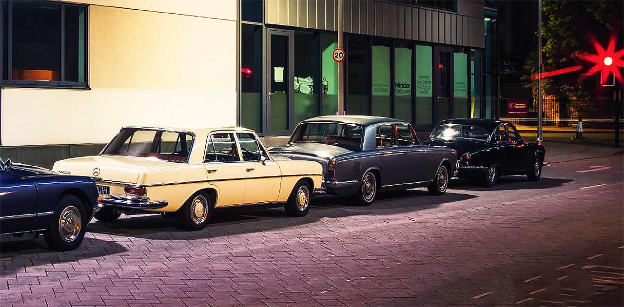 Bentley T1 vs Mercedes 280SE W108 series, Jaguar 420G and Citroen DS23ie