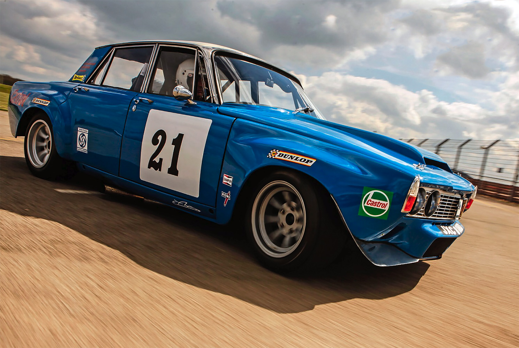 Rover P6 racing car