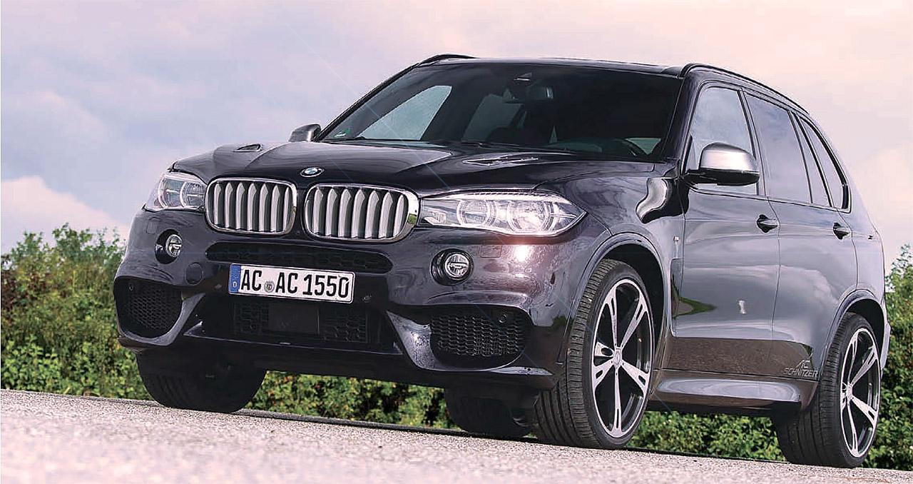 BMW F15 X5 M50d AC Schnitzer 430hp - road drive